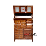 Medical doctor dentist cabinet Fine Quality WALNUT for dollhouse miniature 1:12 scale